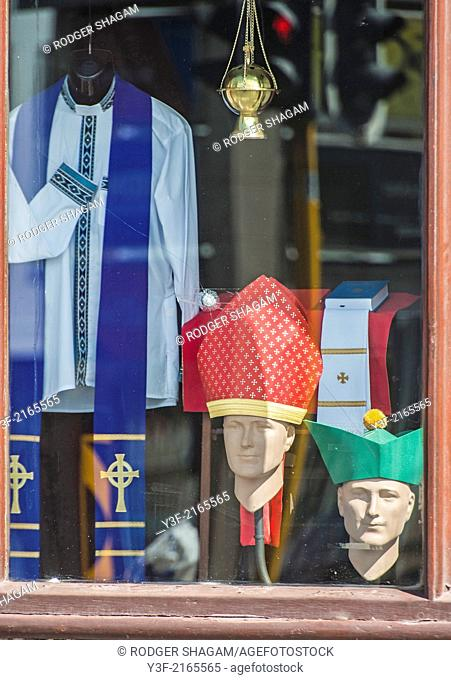 It's easy to be a priest when you know where to shop! A religious clothing store, Cape Town, South Africa