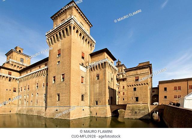 Castle Estense, Ferrara, Emilia Romagna, Italy, Europe