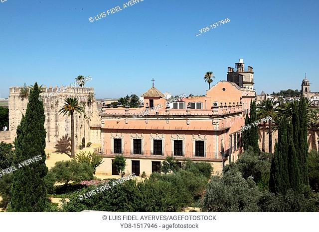 Courtyard of the Alcazar de Jerez de la Frontera, Andalucía, Spain, Europe