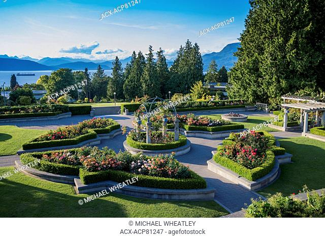 The Rose Garden, Totem pole, UBC, Vancouver, British Columbia, Canada