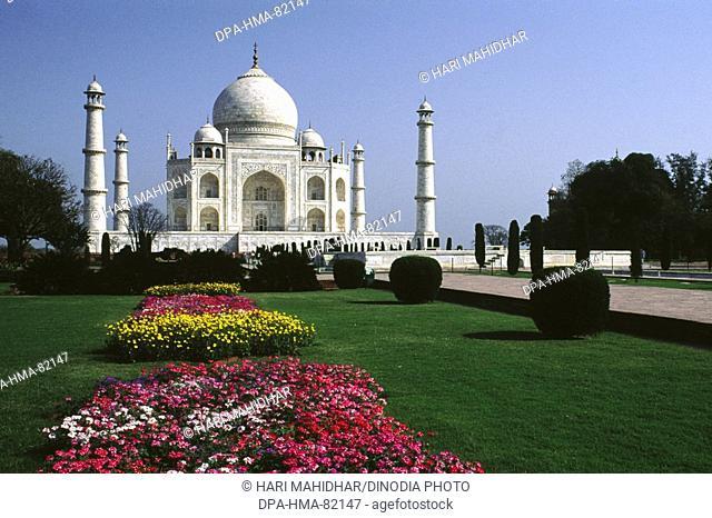 Seventh Wonder of The World 7 Taj Mahal , Agra , Uttar Pradesh , india