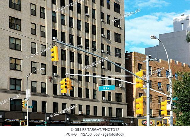 usa, etat de New York, New York City, Manhattan, Chelsea, buildings, rue, 8th avenue, buildings, Photo Gilles Targat