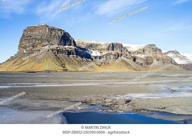 Landscape near Lomagnupur. europe, northern europe, iceland, February