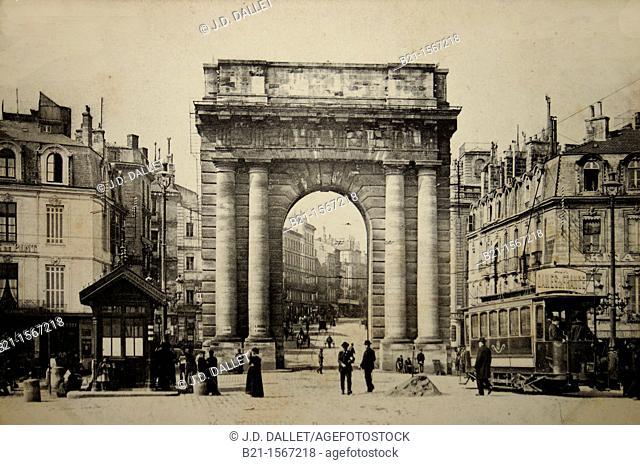 Porte de Bourgogne, postcard c. 1900, Bordeaux, Gironde, Aquitaine, France