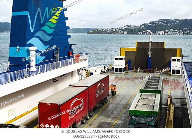 Ferry from Wellington to Picton, New Zealand