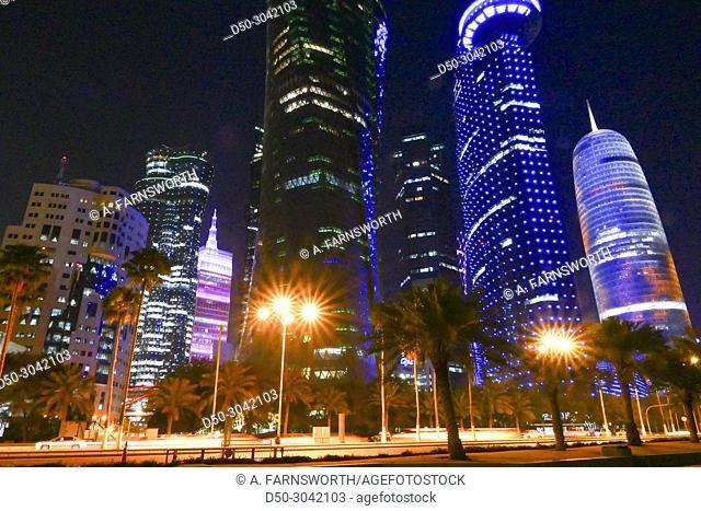 Skyline. West Bay. Doha, Qatar