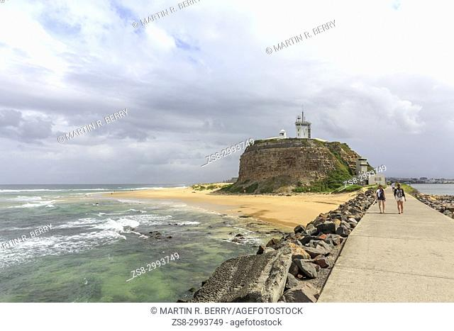 Nobbys beach in Newcastle, newcastle is the second largest city in New South Wales,Australia