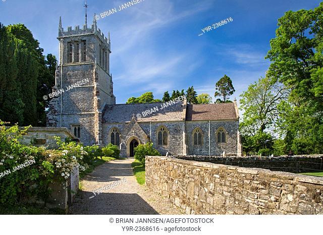Saint Andrews Church on the grounds of Lulworth Castle, Dorset, England