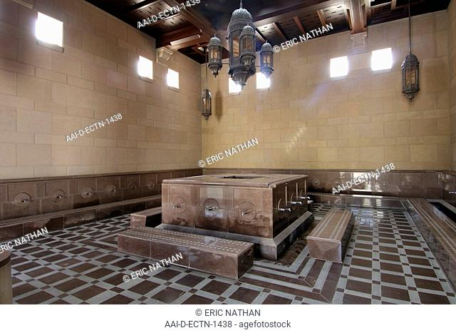 A cleansing area inside the Sultan Qaboos Grand Mosque in Muscat in Oman