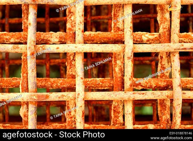 Rusty Metal Grid - Oxidation