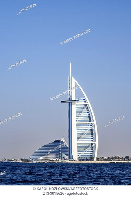 Burj Al Arab and Jumeirah Beach Hotels, Dubai, United Arab Emirates