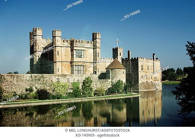 Leeds Castle, Leeds, near Maidstone, Kent, England