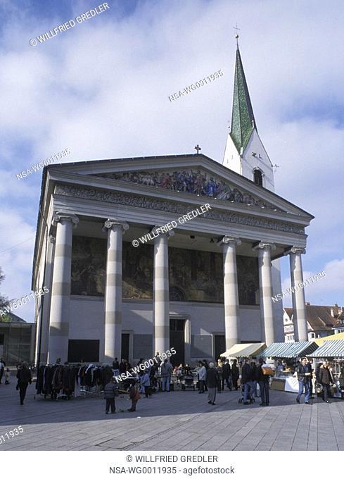 Church with columns in Dornbirn