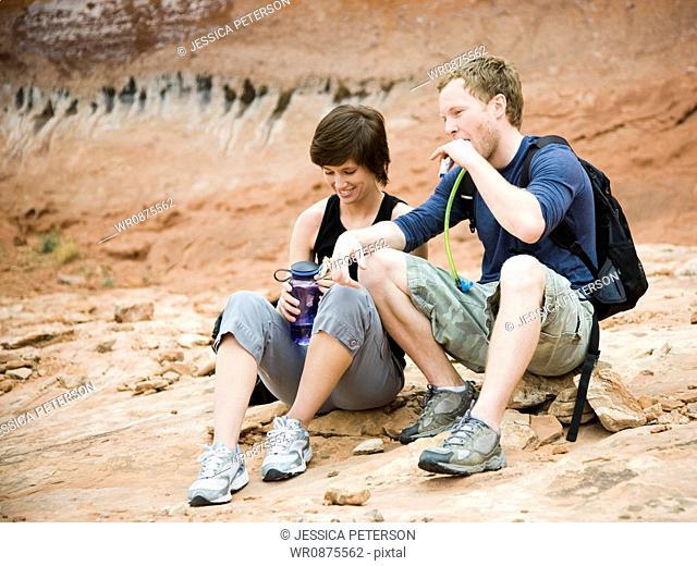 hikers in the desert