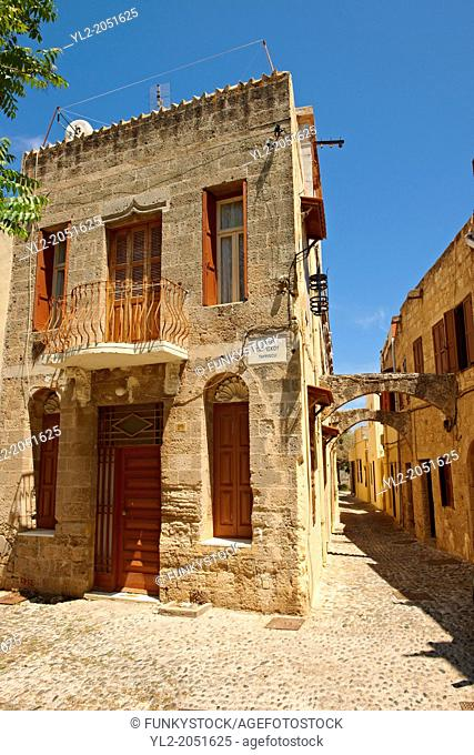 Medieval alleys of Rhodes old town, Rhodes Island, Greece