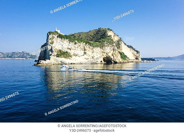 Cape Miseno with Fishing Boat