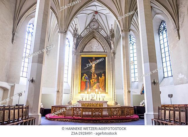 Interior of the St. Olaf's church in Tallinn, Estonia, Europe