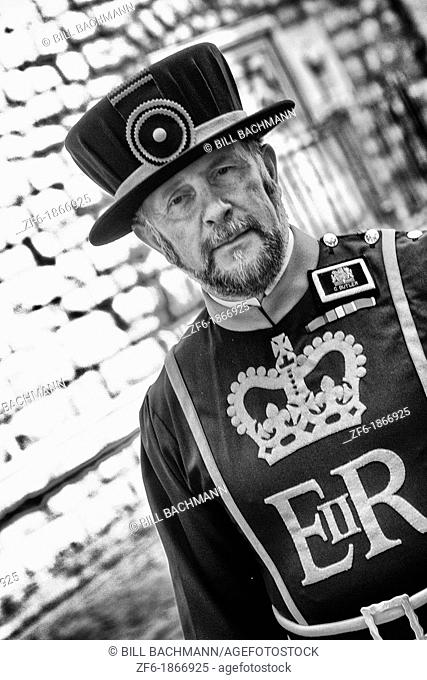 Beefeater at the Tower of London in London England
