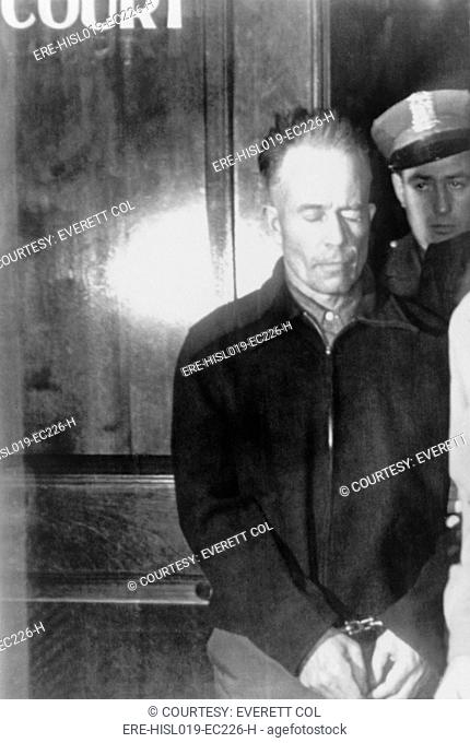 Edward Theodore 'Ed' Gein 1906-1984, murderer and grave robber committed his crimes in Plainfield, Wisconsin. Gein created masks