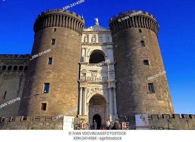 Triumphal arch (1471), Castel Nuovo (Maschio Angioino), Naples, Campania, Italy