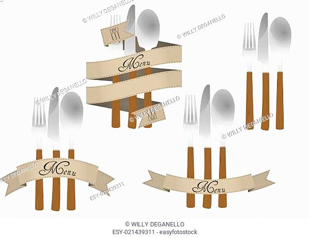 cutlery ribbon set