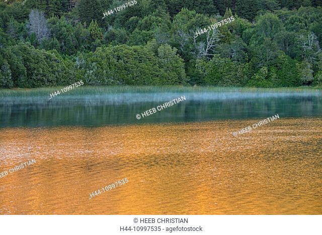 South America, Argentina, Patagonia, Rio Negro, Bariloche, Nahuel Huapi, National Park, lakeside reflection