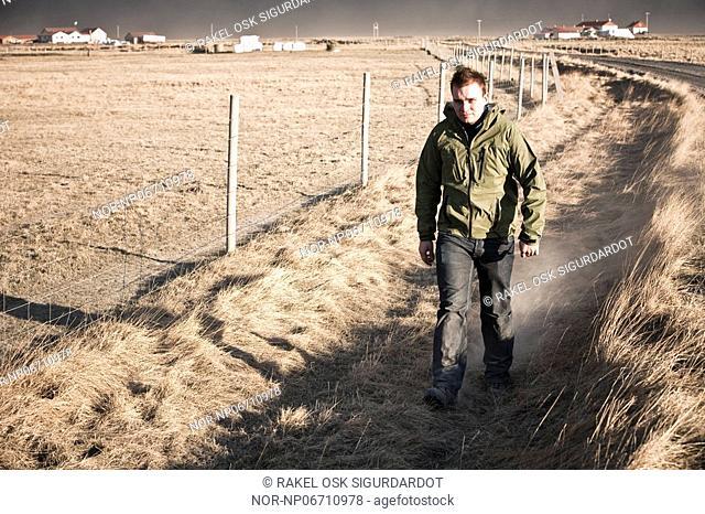 Volcanic eruption in South Iceland, image shot 17. April 2010