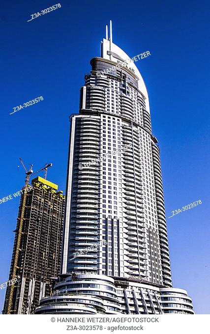 Construction site of the Emaar Properties supertall skyscrapers in Dubai
