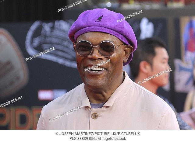 """Samuel L Jackson at Columbia Pictures' and Marvel Studios' """"""""Spider-Man Far From Home"""""""" World Premiere held at the TCL Chinese Theatre in Hollywood, CA, June 26"""