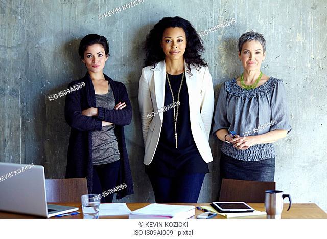 Portrait of three businesswoman in office