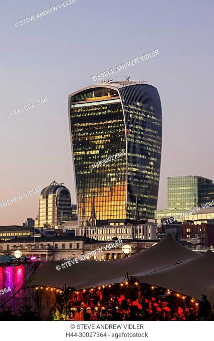 England, London, The City, City Skyline and Walkie Talkie Building