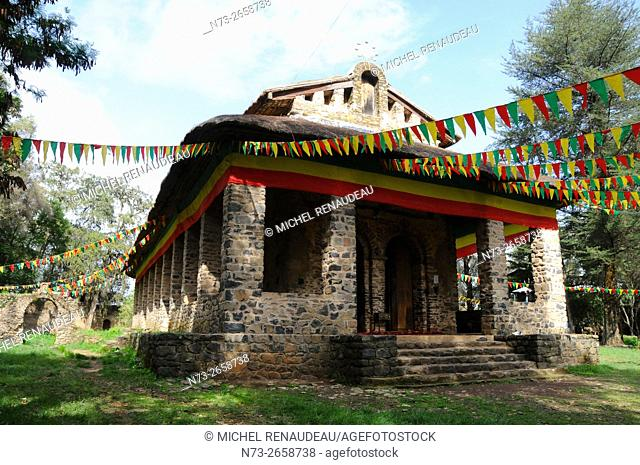 Ethiopia, Amhara Region, Gondar, Debre Selassie Coptic church