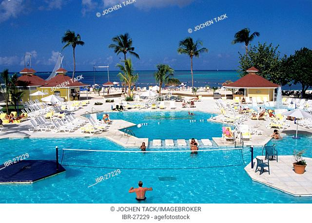 BHS, Bahamas, New Providence, Nassau:Breezes Hotel, Pool. Independent state in the West Indies, member of Comonwealth of Nations