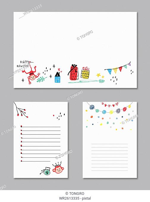 Design set for diary