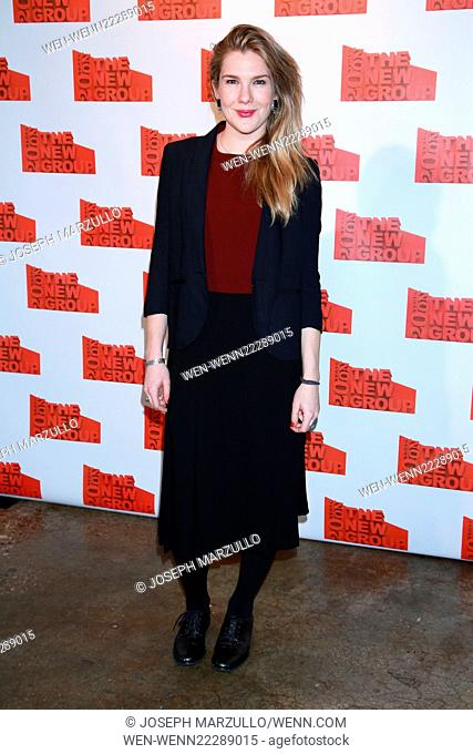The New Group 20th Anniversary Gala held at Tribeca Rooftop - Arrivals. Featuring: Lily Rabe Where: New York City, New York