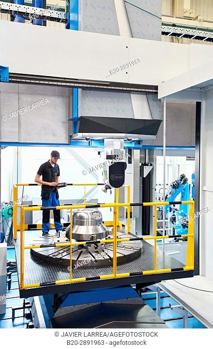 Vertical lathe. Machining Center. CNC. Design, manufacture and installation of machine tools. Gipuzkoa . Basque Country. Spain. Europe