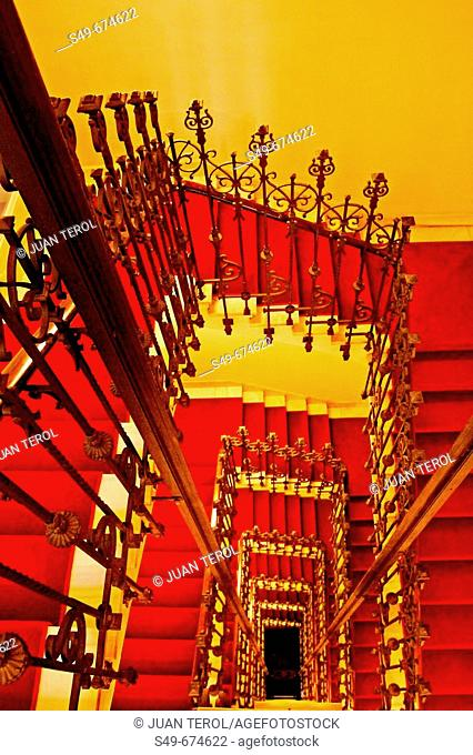 Staircase of hotel. Madrid, Spain