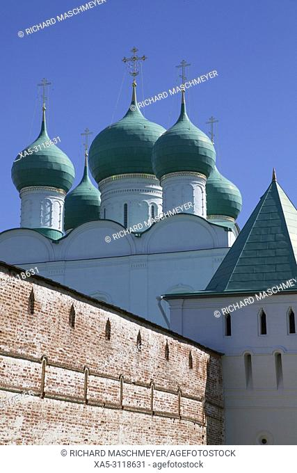 Gate Church and Wall, Boris and Gleb Monastery, Borisoglebsky, Golden Ring, Yaroslavl Oblast, Russia