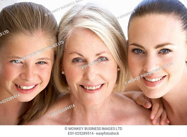 Portrait Of Three Generation Of Women From Family