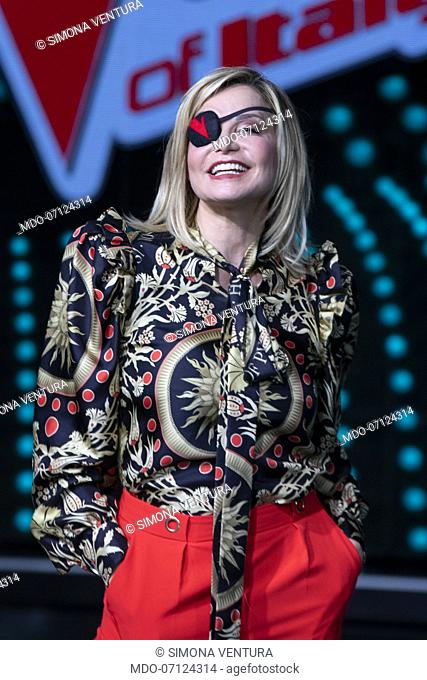 Simona Ventura attends the press conference for the final episode of The Voice of Italy at the Rai studios. Milan (Italy), June 3rd, 2019