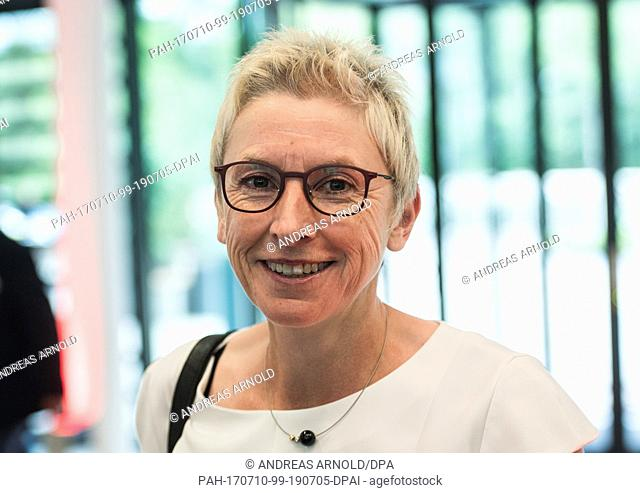 Former biathlete Petra Behle pictured at the event in Marburg, Germany, 10 July 2017. Biathlete Neuner and Formula 1 world record holder Schumacher are being...