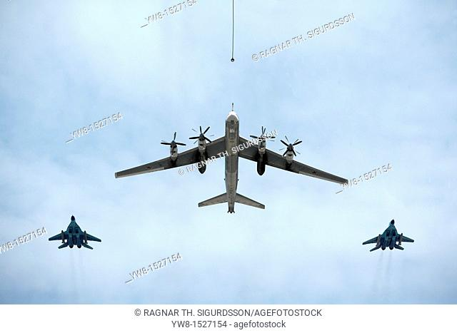 Russian Army Aircraft at Victory Day Parade, Moscow, Russia  The fighting of WWII in Europe ended on May 2nd, 1945  The surrender of German troops was signed on...