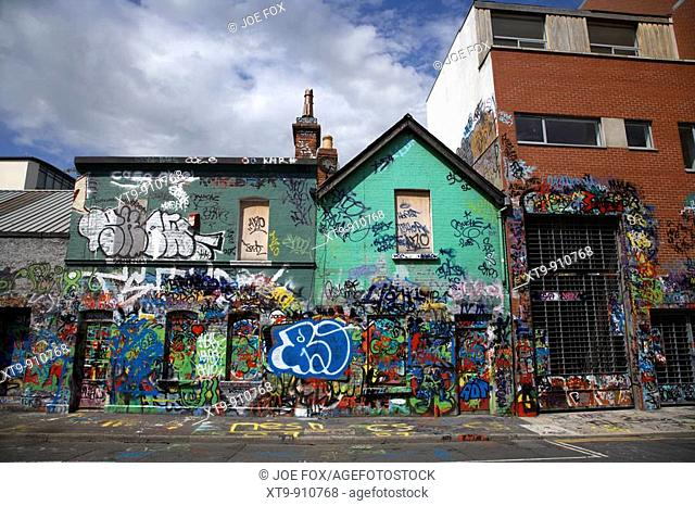 the famous U2 wall covered in fan grafitti at windmill lane studios in dublin republic of ireland