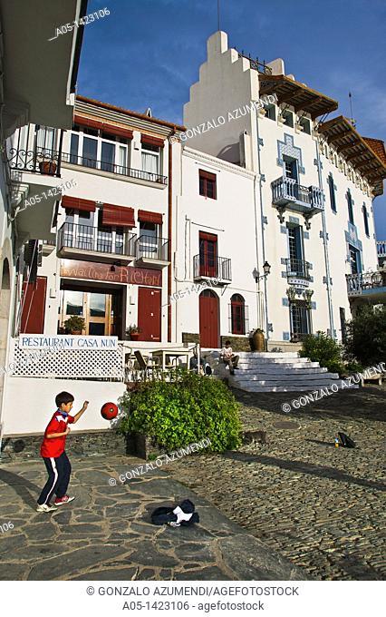Casa Blava 'Blue House', Cadaques, Alt Emporda, Costa Brava, Girona province, Catalonia, Spain