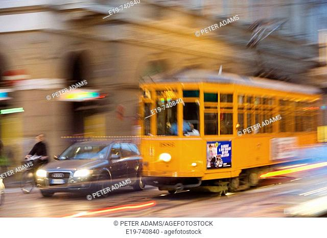Tram , Milan, Italy