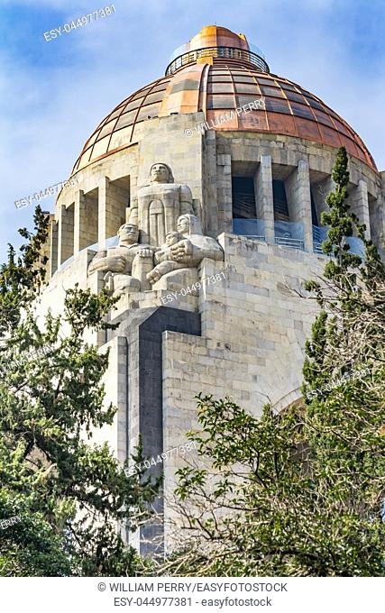 1910 Revolution Monument Mexico City Mexico. Built in 1932 with the remains of many Revolutionary heroes
