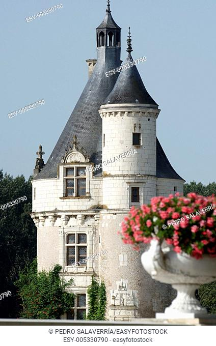 Castle of Chenonceau, Loire Valley, France  Known as 'the castle of the ladies' was built in 1513 by Katherine Briconnet