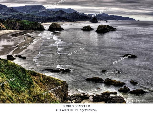 Canon Beach Oregon from Ecola State Park