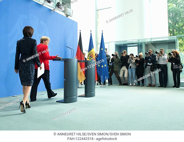 Prime Minister Maia SANDU and Chancellor Angela MERKEL Press meeting of the Prime Minister of the Republic of Moldova by the Federal Chancellor in the Federal...