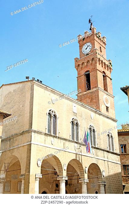 Palazzo Pretorio City hall The old town and the streets of the medieval period Pienza, Italy